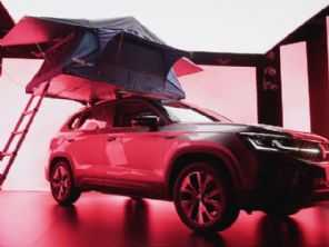 VW Taos terá até tenda para camping como acessório
