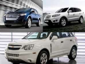 SUVs de maior porte usados: Hyundai Santa Fe, Ford Edge ou Chevrolet Captiva?