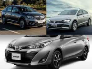 Toyota Yaris Sedã XL Live, VW Virtus 1.6 aut. ou Renault Logan Zen?