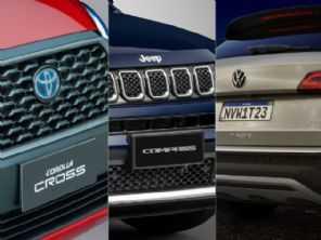 Jeep Compass, Toyota Corolla Cross ou VW Taos: qual entrega mais pelo seu dinheiro?
