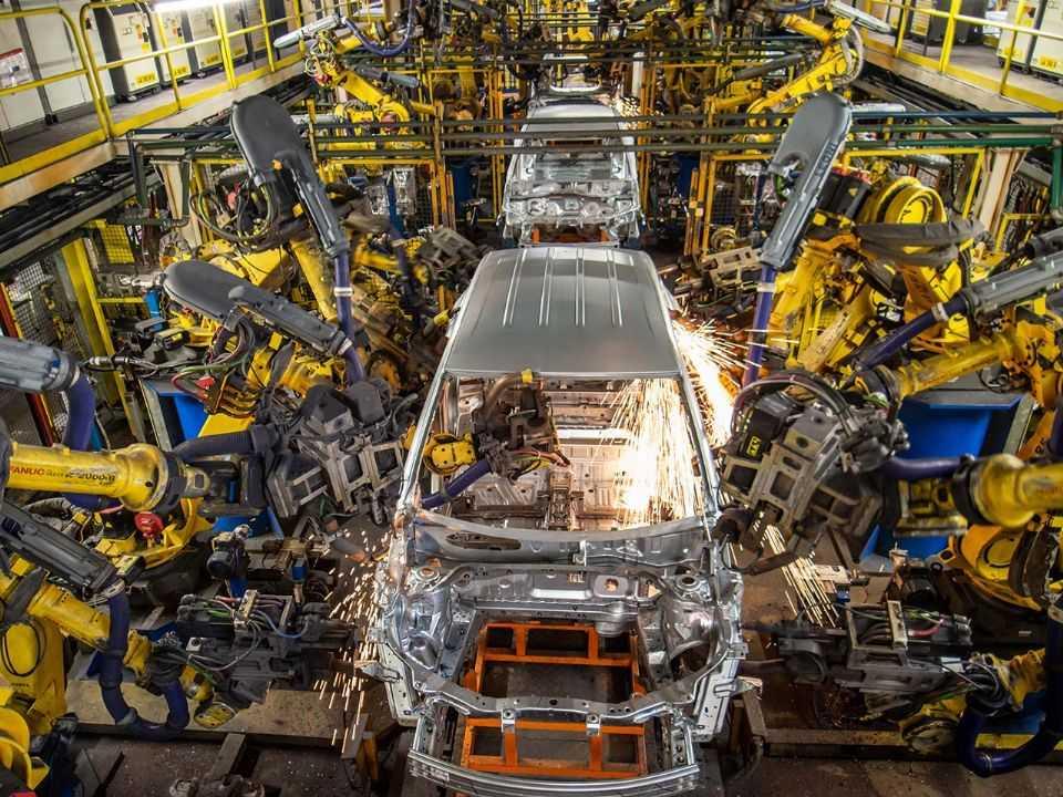 Detalhe da linha de produção da GM em São Caetano do Sul (SP)