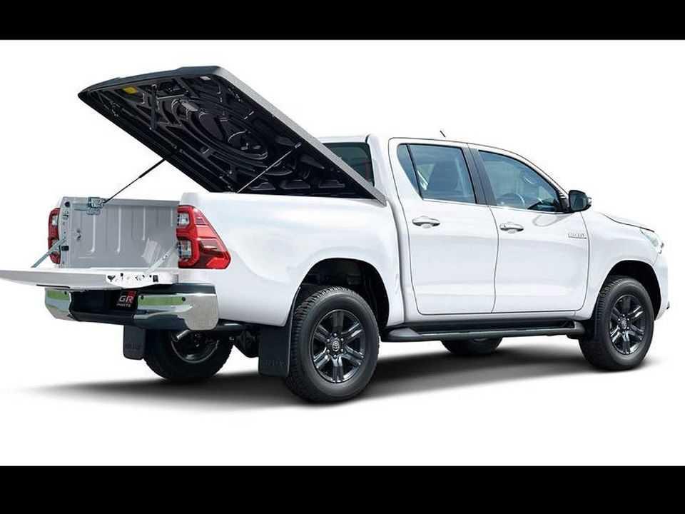 Na Ásia, Toyota apresentou mecanismo de fechamento rígido para a caçamba da Hilux como acessório