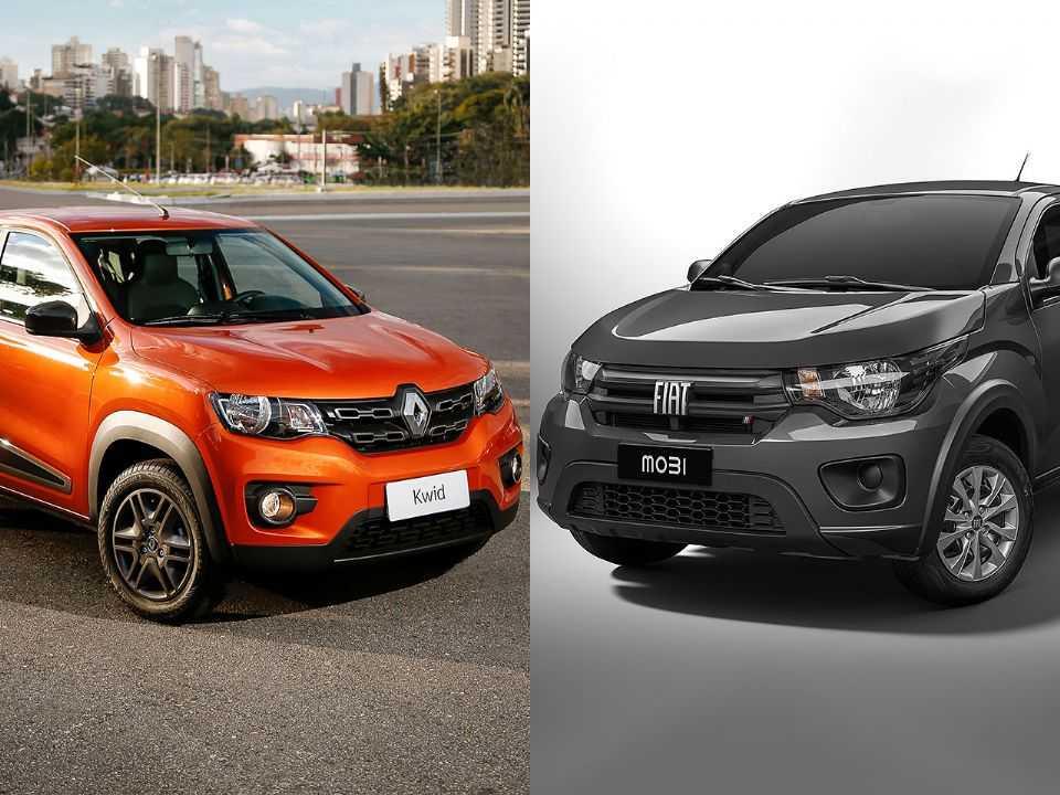 Renault Kwid ou Fiat Mobi: saiba qual é a melhor escolha entre os dois hatches mais baratos do Brasil