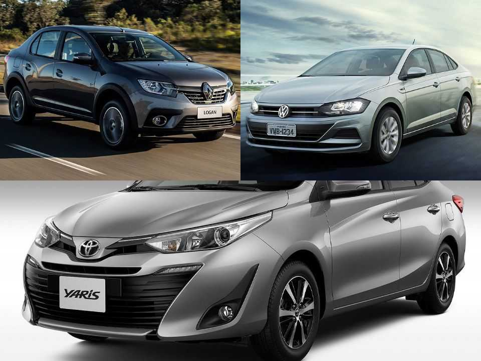 Renault Logan, Volkswagen Virtus e Toyota Yaris Sedã