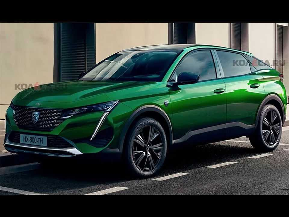 Projeção do site russo Kolesa para o SUV-cupê baseado na nova geração do Peugeot 308