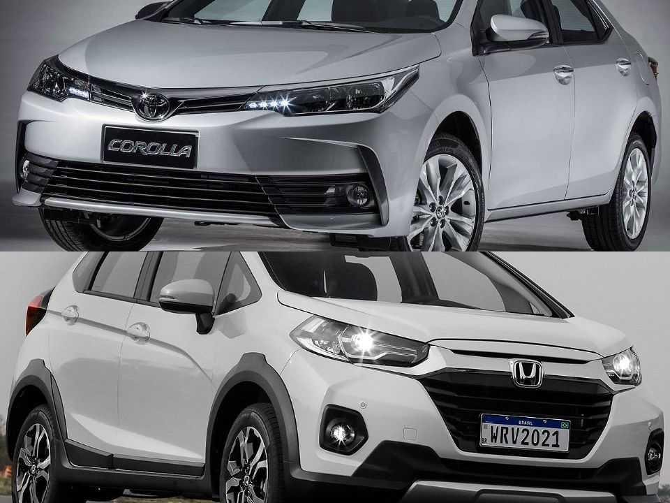 Toyota Corolla e Honda WR-V