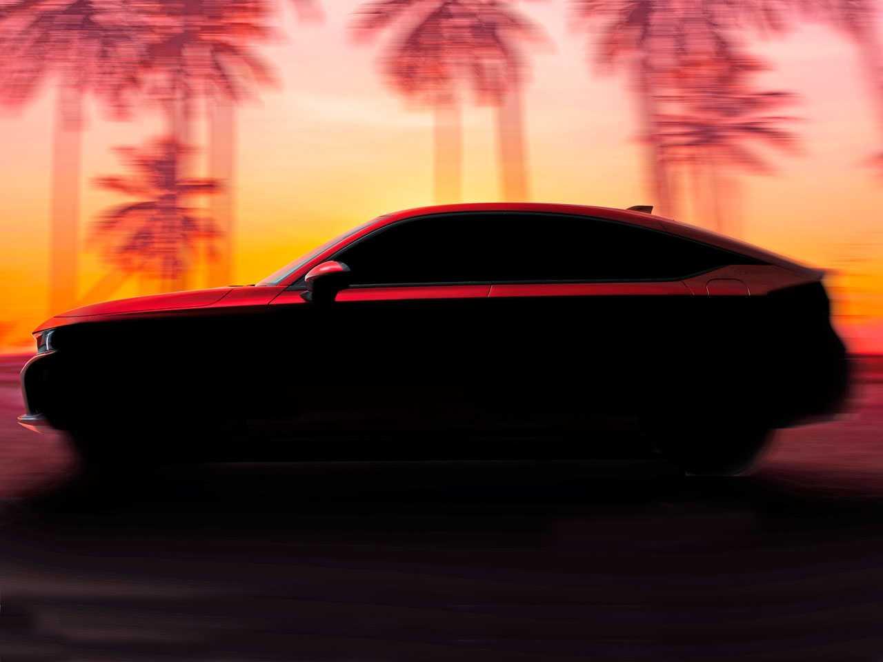 Teaser do novo Honda Civic hatchback 2022