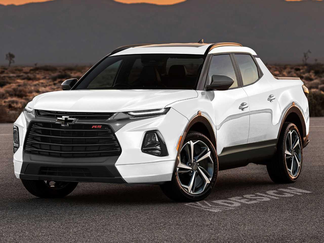 Ilustração independente da futura picape da Chevrolet: marca será a primeira a enfrentar a Fiat Toro