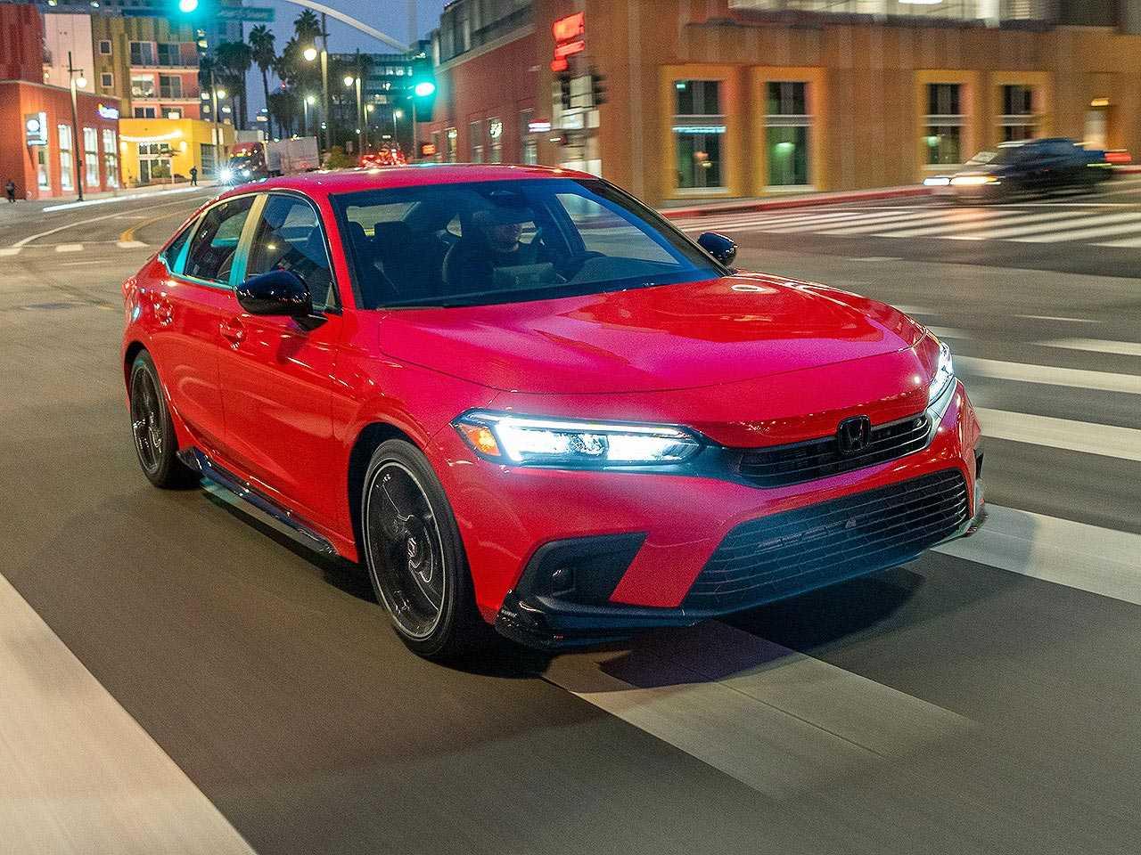 Acima o Honda Civic Sedan Sport 2022 com pacote HPD vendido nos EUA
