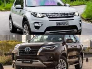 SUVs na faixa de R$ 360 mil: Toyota SW4 ou Land Rover Discovery Sport?