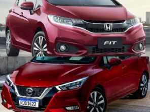 Honda Fit EXL ou um Nissan Versa Exclusive?