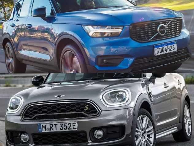 SUVs híbridos premium: Volvo XC40 ou MINI Countryman?