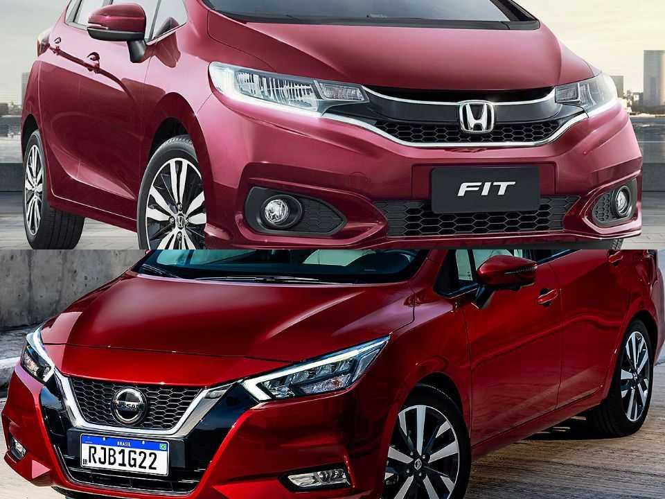 Honda Fit e Nissan Versa