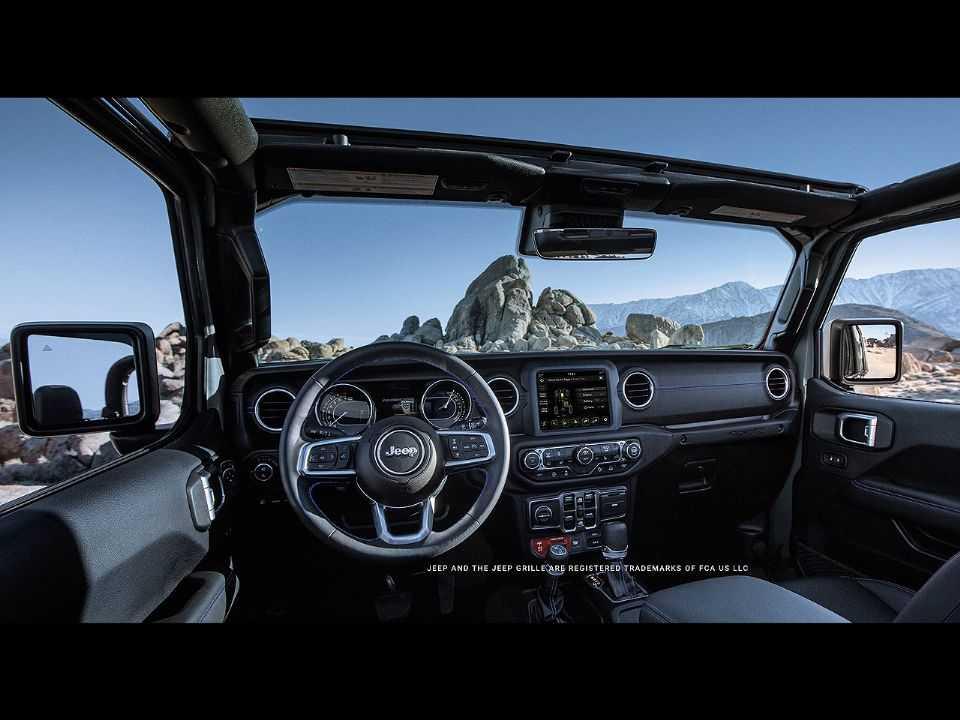 Primeira imagem oficial antecipando o interior da Jeep Gladiator 4xe