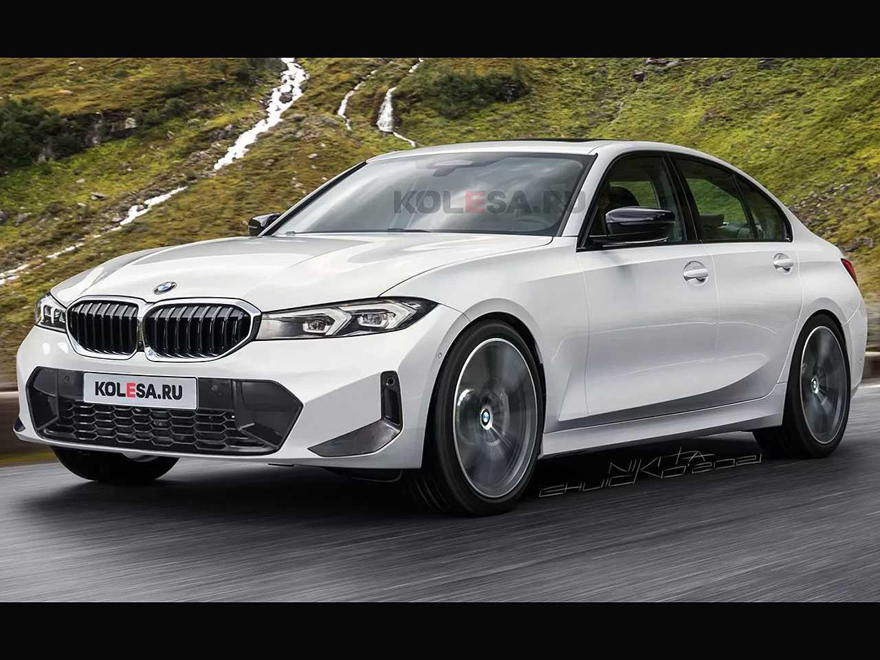 Projeção do site russo Kolesa para o facelift do BMW Série 3
