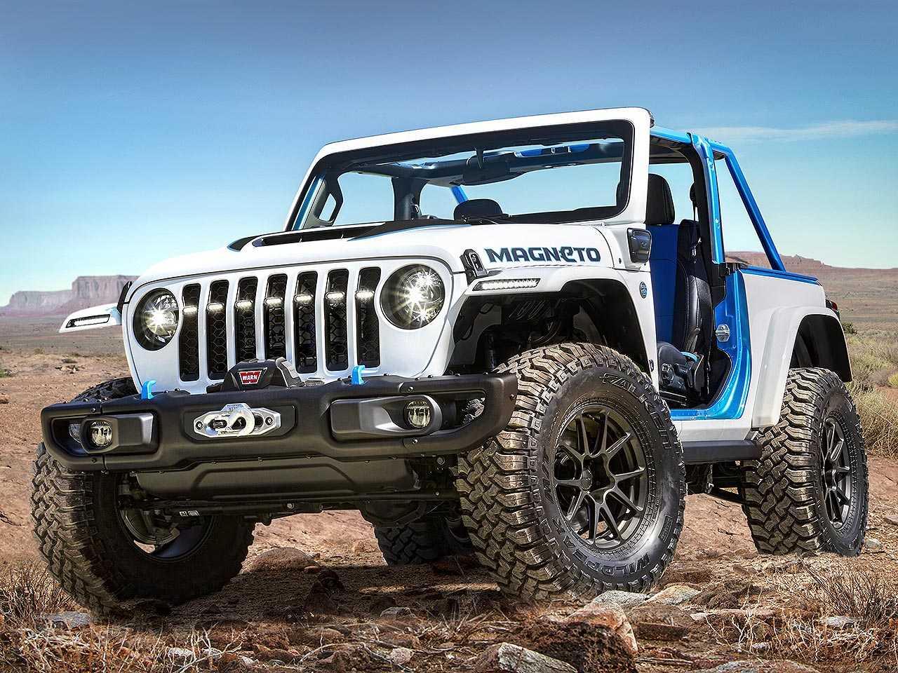Jeep Wrangler Magneto: conceito elétrico baseado no tradicional modelo da marca