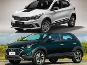 Fiat Argo Trekking 1.3 ou Hyundai HB20X Vision?