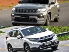 SUVs para família: Jeep Compass 1.3 turbo 2022 ou um Honda CR-V 2018?