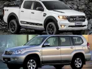 4x4 robusto: Toyota Land Cruiser Prado usado ou uma Ford Ranger Storm?