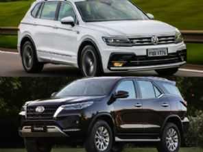 VW Tiguan Allspace R-Line ou um Toyota SW4 SRX?