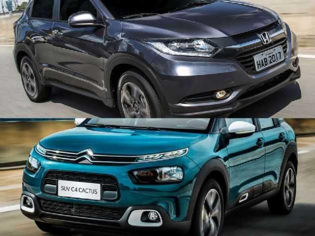 Honda HR-V EXL 2016 ou um Citroën C4 Cactus Feel 2019?