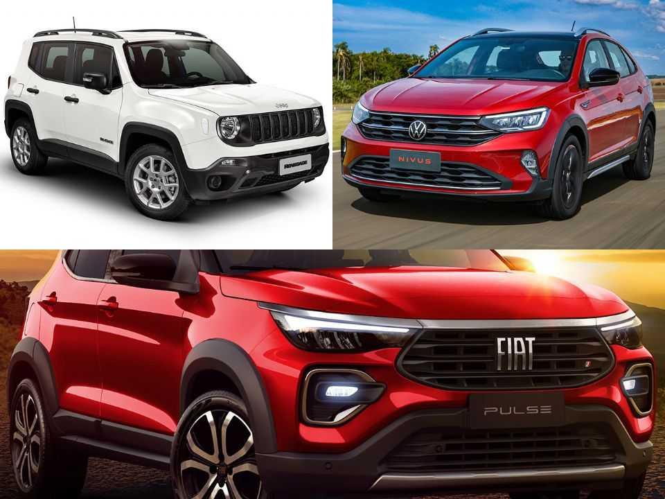 Jeep Renegade, VW Nivus e Fiat Pulse