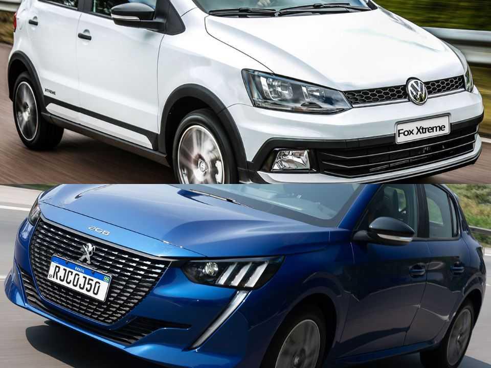 Volkswagen Fox e Peugeot 208