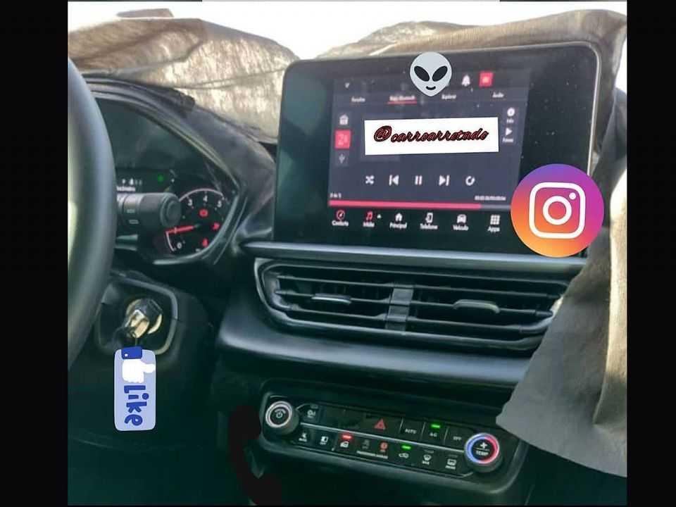 Flagra do interior do novo Fiat Pulse