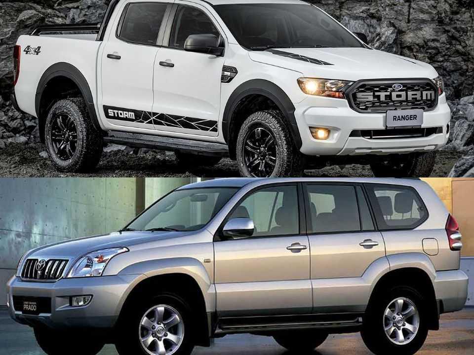 Ford Ranger e Toyota Land Cruiser Prado