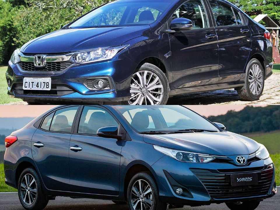 Honda City e Toyota Yaris Sedã