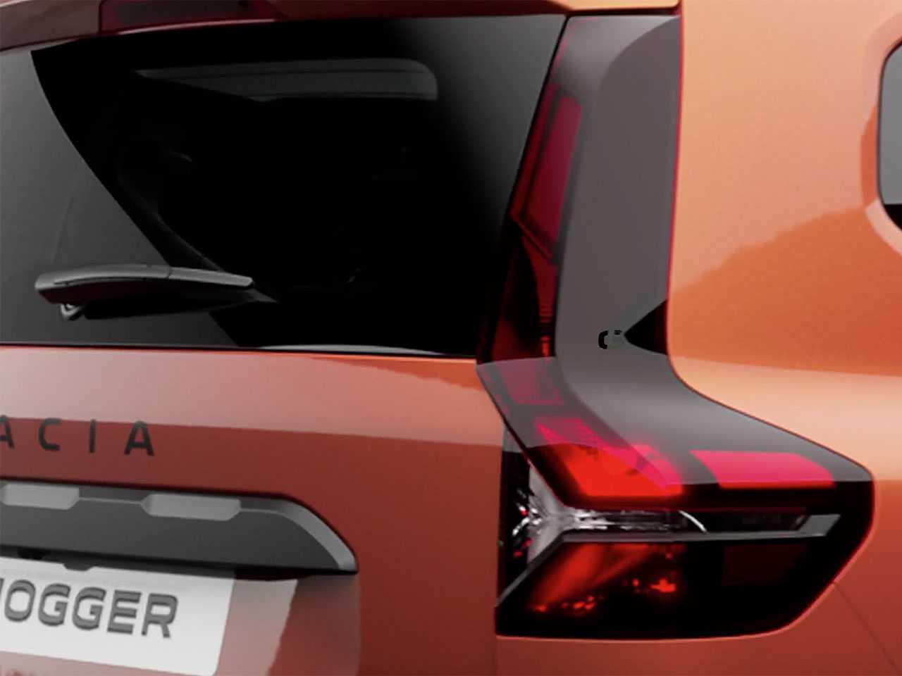 Detalhe do futuro Dacia Jogger