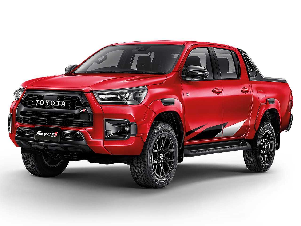 Acima a Toyota Hilux Revo GR Sport revelada na Tailândia