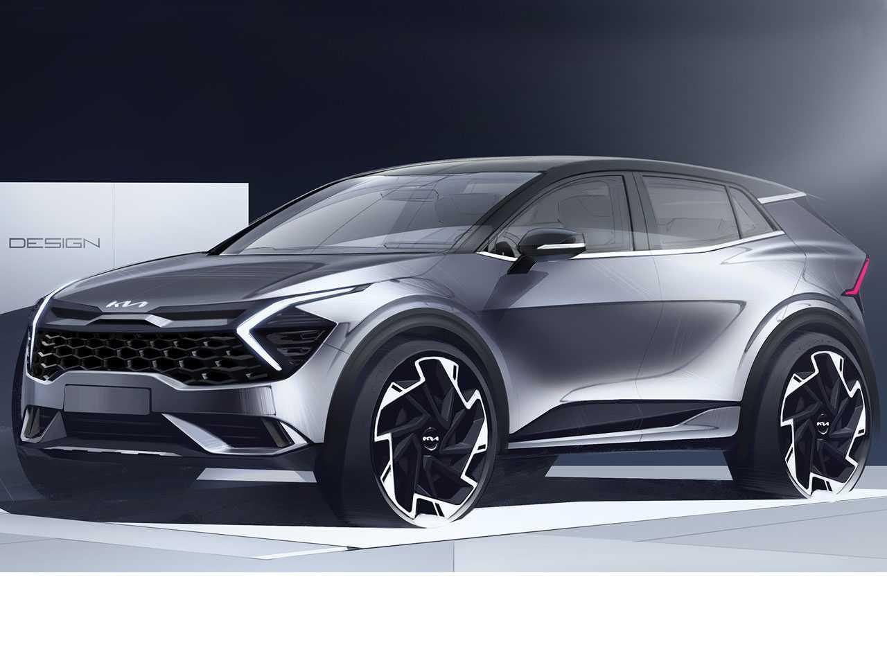 Desenho do Kia Sportage de 5ª geração europeu
