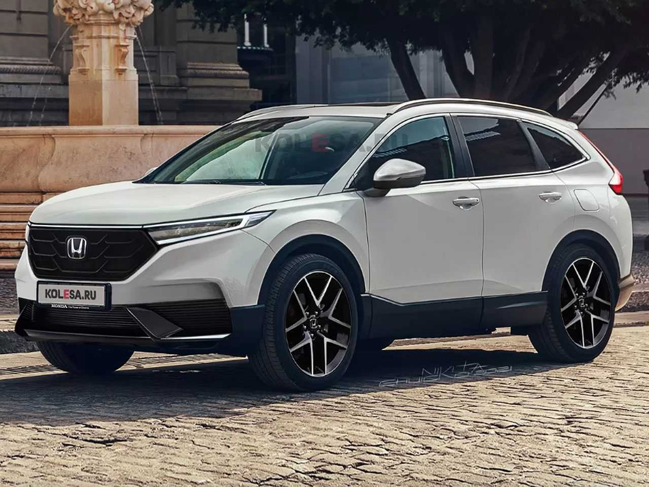 Projeção do site russo Kolesa para a nova geração do Honda CR-V