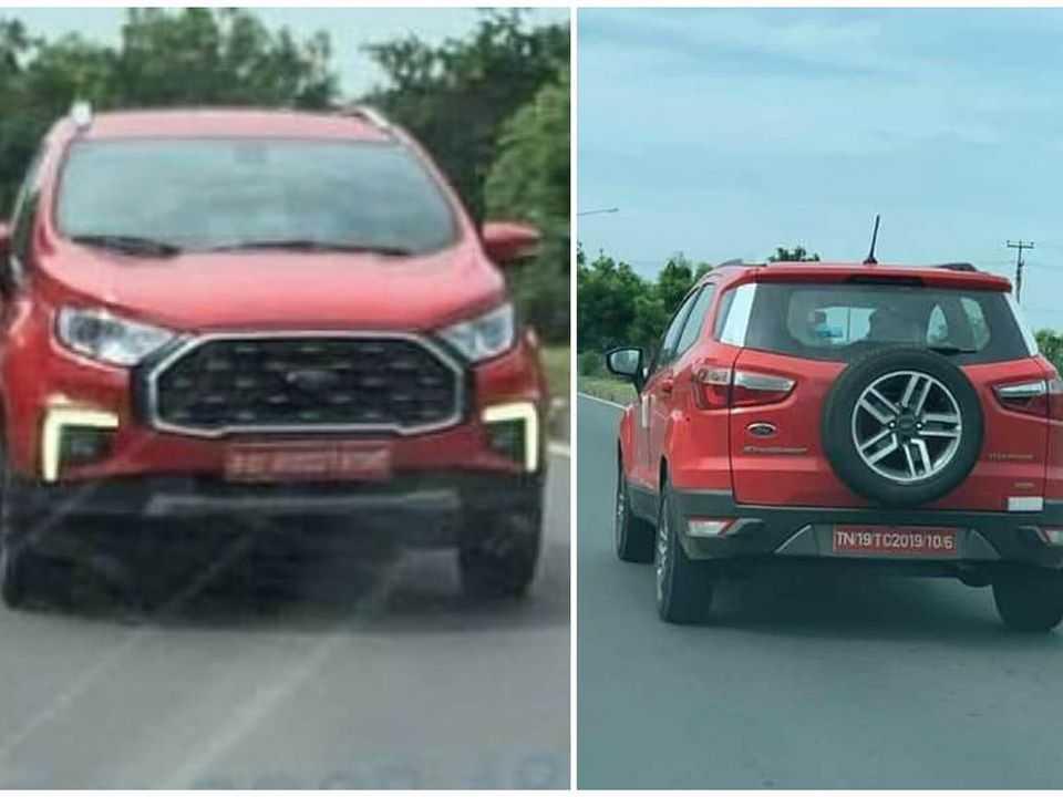 Facelift do Ford EcoSport flagrado na Índia