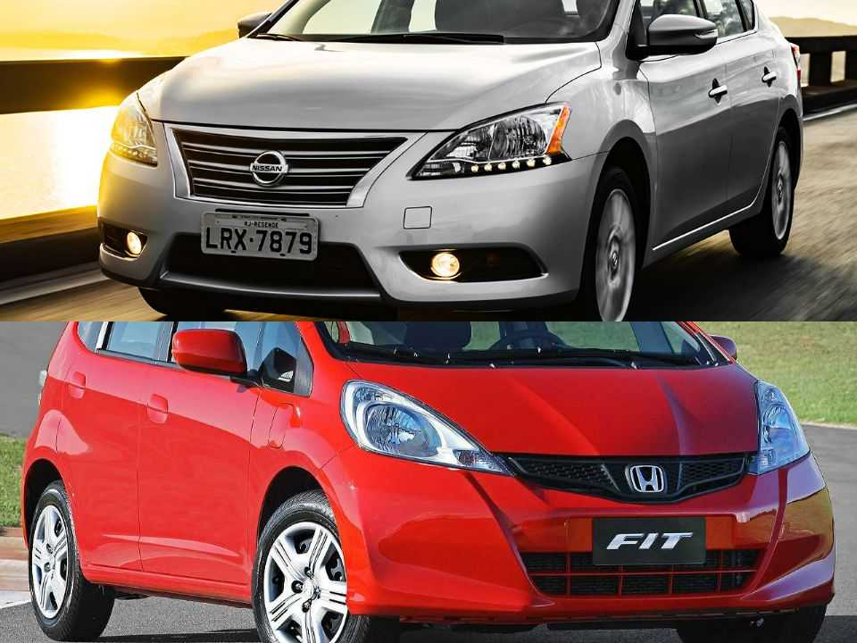 Nissan Sentra e Honda Fit