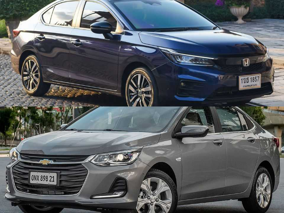 Honda City e Chevrolet Onix Plus