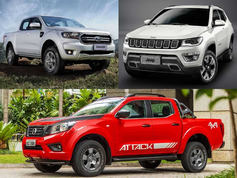 Ford Ranger, Jeep Compass e Nissan Frontier