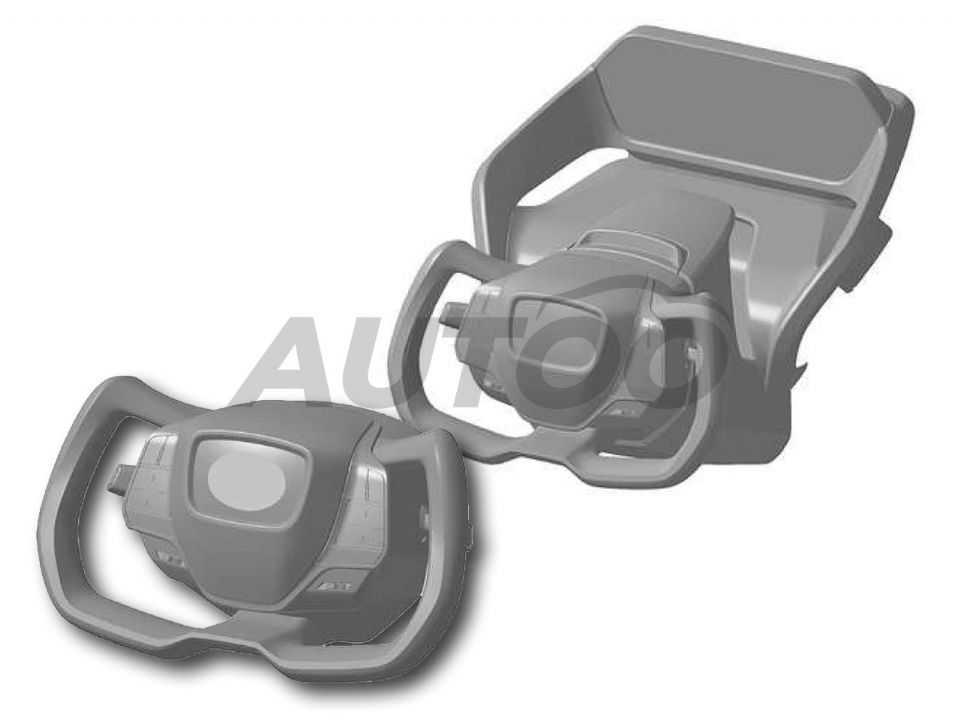 Registro de desenho industrial do volante da Toyota