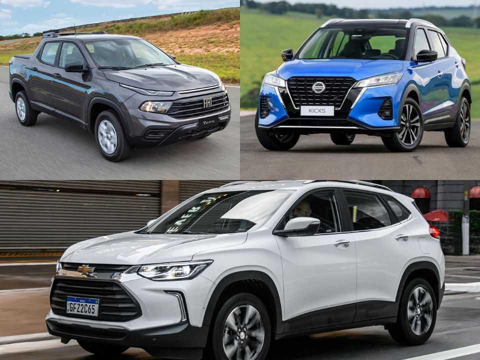 Fiat Toro, Nissan Kicks e Chevrolet Tracker