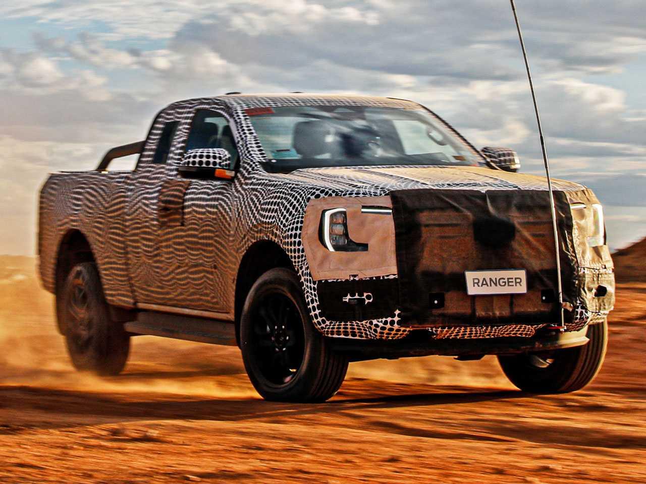 A nova geração da Ranger em foto divulgada pela própria Ford: apresentação oficial no final do ano