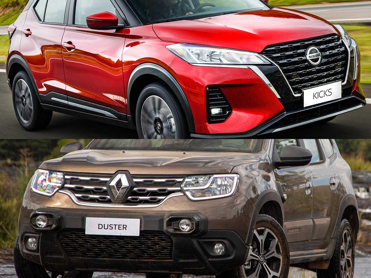 Nissan Kicks e Renault Duster