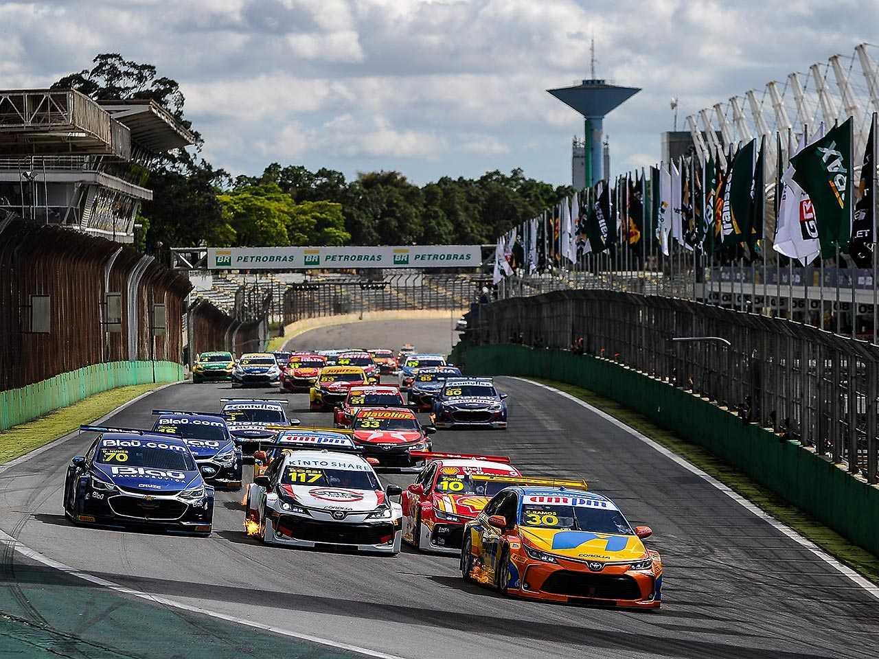 Detalhe do Autódromo José Carlos Pace, localizado em Interlagos (SP)