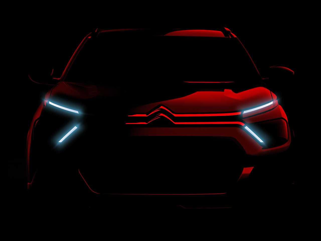O teaser do novo Citroën C3 2022