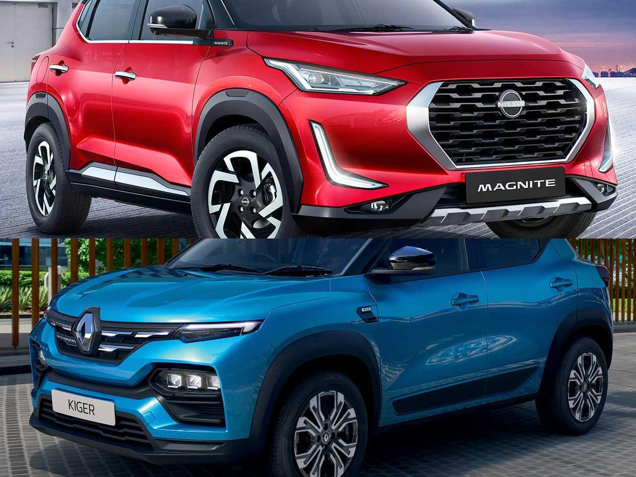 Nissan Magnite e Renault Kiger: SUVs pequenos estrearam na Índia