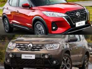 Renault Duster Iconic ou Nissan Kicks Advance? Veja qual é o melhor SUV