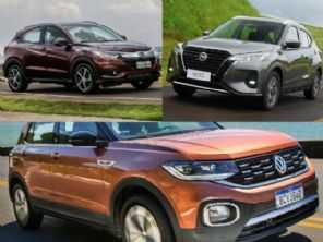 Honda HR-V EXL 2020, VW T-Cross Highline 2019 ou um Nissan Kicks 0 km?