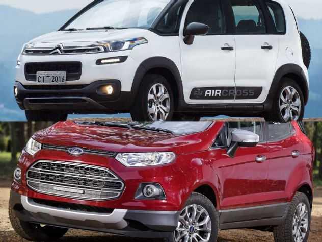 Comprar um Ford EcoSport 2015 com câmbio PowerShift ou um Citroën Aircross 2017?