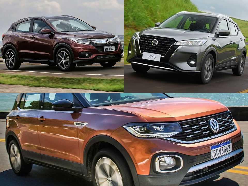 Honda HR-V, Nissan Kicks e VW T-Cross